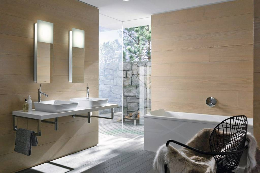 eigentijdse badkamer design modern voorbeelden voor het indelen van een kleine badkamer