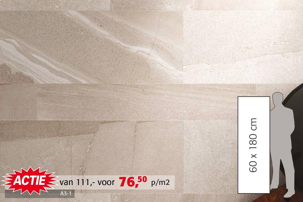 Natuursteenlook tegel | Leverbaar in wit, grijs en basalt