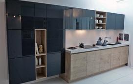 Inspiratie voor een zwarte keuken