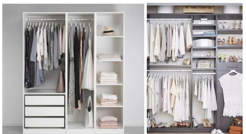 voor en nadelen van een open kledingkast