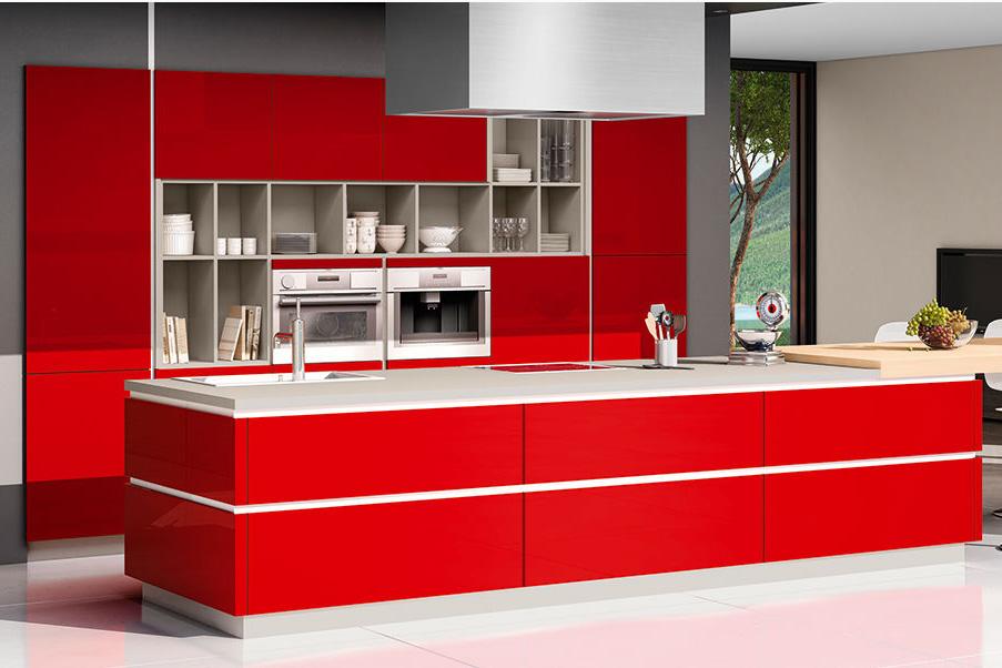 Design keukens 9 voorbeelden van een prachtig design - Cuisine rouge et blanc photos ...